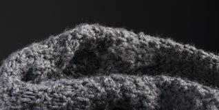Fondo hecho punto extracto detallado de la tela de las lanas Imagenes de archivo