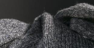 Fondo hecho punto extracto detallado de la tela de las lanas Imagen de archivo libre de regalías