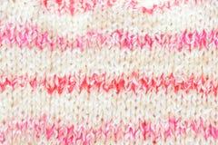 Fondo hecho punto rosa para el bebé Imagen horizontal Fotografía de archivo libre de regalías