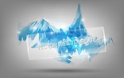 Fondo helado azulado de la sensación con el vidrio para la presentación del negocio libre illustration