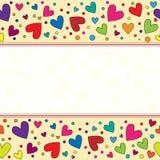 Fondo hermoso, colorido del corazón Fotos de archivo libres de regalías
