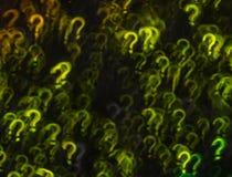 Fondo hermoso con diverso signo de interrogación coloreado, resumen Fotografía de archivo libre de regalías