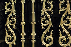 Fondo hermoso con la decoración floral del metal Fotos de archivo libres de regalías