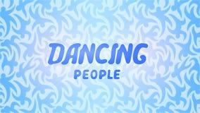 Fondo hermoso con la gente del baile de las letras Fotografía de archivo libre de regalías