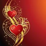 Fondo hermoso con los corazones Imagen de archivo