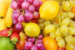 Fondo hermoso de frutas maduras Comida sana orgánica Fotos de archivo libres de regalías
