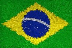 Fondo hermoso de la bandera del primer del Brasil stock de ilustración