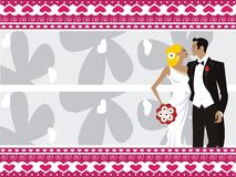 Fondo hermoso de la boda Imagenes de archivo