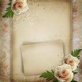 Fondo hermoso de la boda de la vendimia Imágenes de archivo libres de regalías
