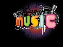Fondo hermoso de la música Fotografía de archivo libre de regalías