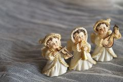Fondo hermoso de la Navidad con ángeles imágenes de archivo libres de regalías