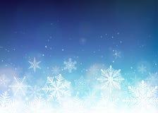 Fondo hermoso de la Navidad Contexto azul de la Navidad del invierno ilustración del vector