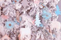 Fondo hermoso de la Navidad, decoración del Año Nuevo fotografía de archivo libre de regalías