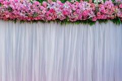 Fondo hermoso de las flores para casarse Imagen de archivo