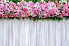 Fondo hermoso de las flores para casarse Foto de archivo