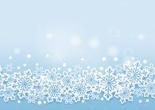 Fondo hermoso de las nieves del invierno Imagenes de archivo