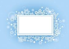 Fondo hermoso de las nieves del invierno con el espacio blanco Fotos de archivo libres de regalías