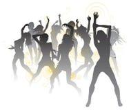 Fondo hermoso de los bailarines Fotos de archivo libres de regalías