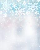 Fondo hermoso de los copos de nieve Fotografía de archivo libre de regalías