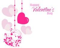 Fondo hermoso de los corazones del diseñador de la tarjeta del día de San Valentín ilustración del vector