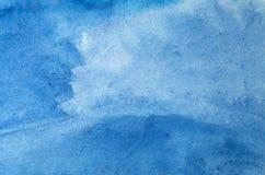 Fondo hermoso del azul de la acuarela Imagen de archivo