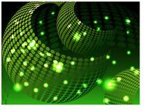 Fondo hermoso del brillo con las formas circulares, verdes ilustración del vector