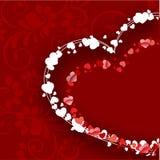 Fondo hermoso del día de tarjetas del día de San Valentín Foto de archivo