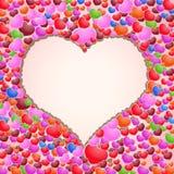 Fondo hermoso del día de tarjetas del día de San Valentín con los ornamentos y el corazón. Foto de archivo libre de regalías