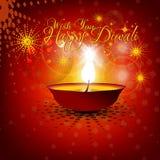 Fondo hermoso del diwali del vector Fotos de archivo