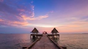 Fondo hermoso del horizonte después de la puesta del sol Imágenes de archivo libres de regalías