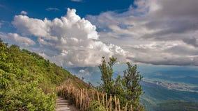 Fondo hermoso del paisaje de Mountain View imagenes de archivo