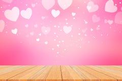 Fondo hermoso del rosa del bokeh del corazón Fotografía de archivo