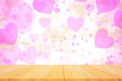 Fondo hermoso del rosa del bokeh del corazón Imagenes de archivo