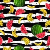 Fondo hermoso del verano Paraíso de la fruta stock de ilustración