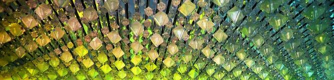 Fondo hermoso panorámico con las luces del color Foto de archivo