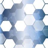 Fondo hexagonal abstracto de la célula de la tecnología del vector Foto de archivo libre de regalías