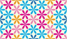 Fondo hexagonal colorido inconsútil del modelo del vintage de la estrella Imagen de archivo