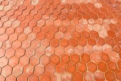 Fondo hexagonal de la textura de las tejas de la arcilla Fotos de archivo