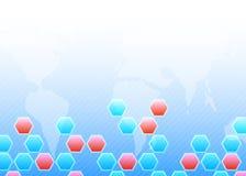 Fondo hexagonal de las formas de Abatract ilustración del vector