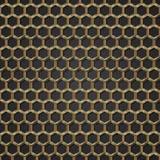 Fondo hexagonal de oro de la estructura Fotografía de archivo libre de regalías