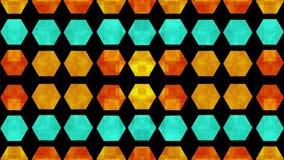 Fondo hexagonal 2 del movimiento del modelo almacen de video