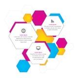 Fondo hexagonal del negocio Imagenes de archivo