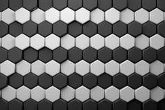 Fondo hexagonal del papel pintado del cgi 3d Fotos de archivo