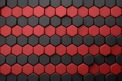 Fondo hexagonal del papel pintado del cgi 3d Imagen de archivo