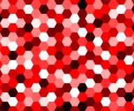 Fondo hexagonal geométrico rojo abstracto Fotos de archivo libres de regalías