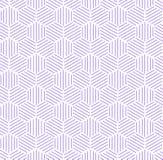 Fondo hexagonal púrpura del modelo Fotografía de archivo