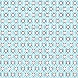 Fondo hexagonal simple único hexagonal del modelo stock de ilustración