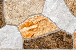 Fondo himalayano di struttura della parete di pietra Fotografie Stock Libere da Diritti
