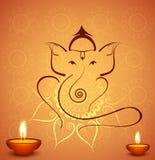 Fondo hindú del festival de Lord Ganesha de la celebración hermosa del diwali