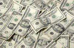 Fondo horizontal del dinero Imágenes de archivo libres de regalías